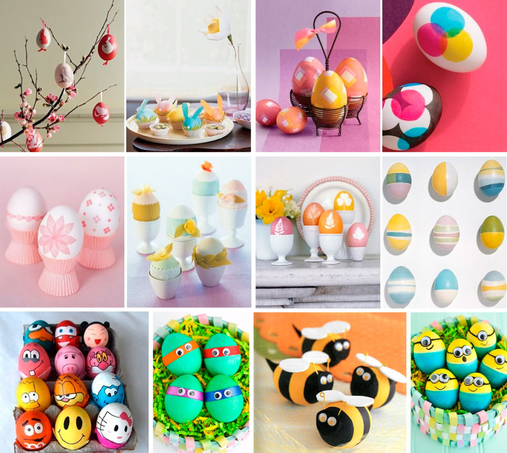 Как покрасить яйца с детьми