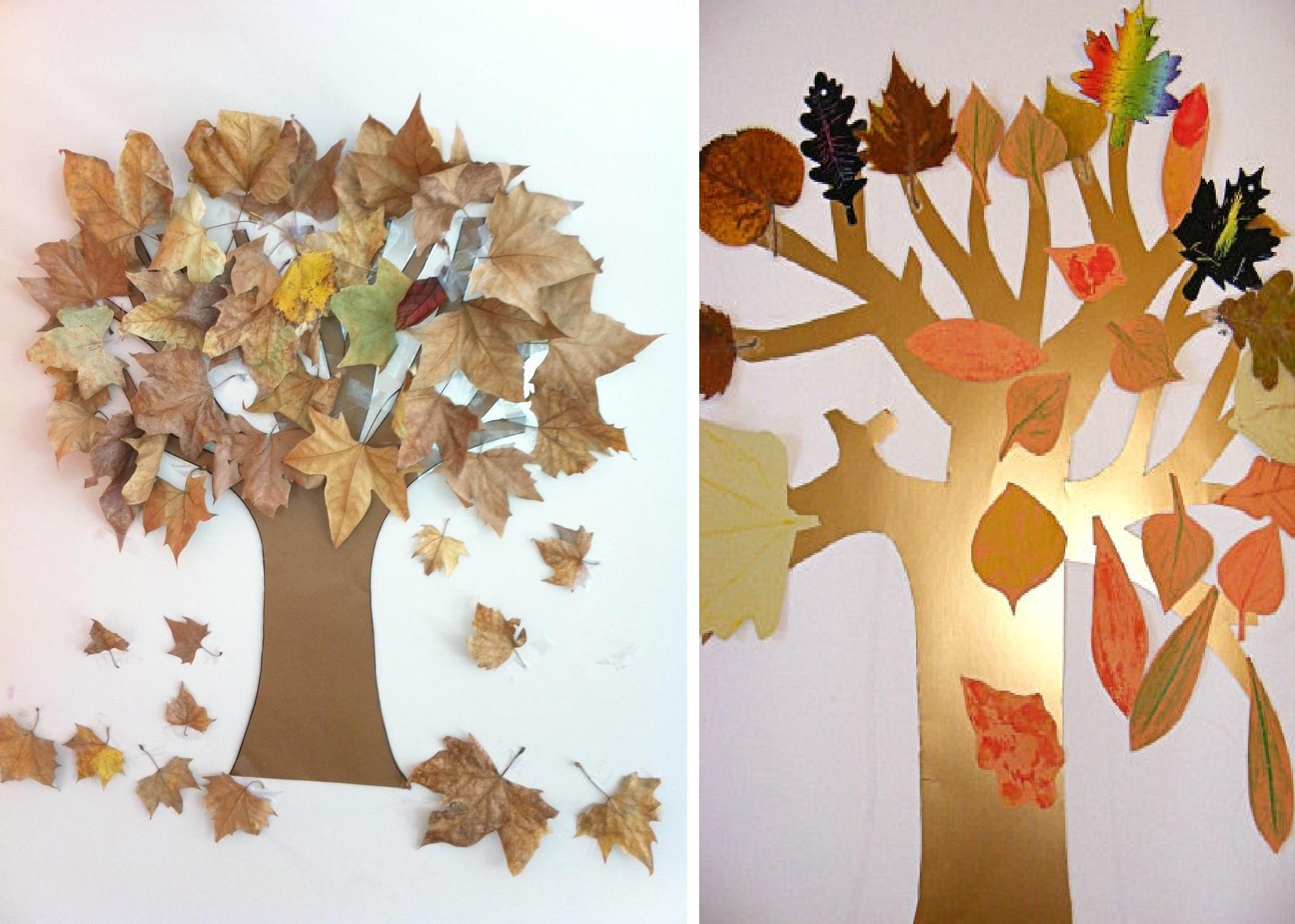 Поделка дерево осень руками пошагово 37