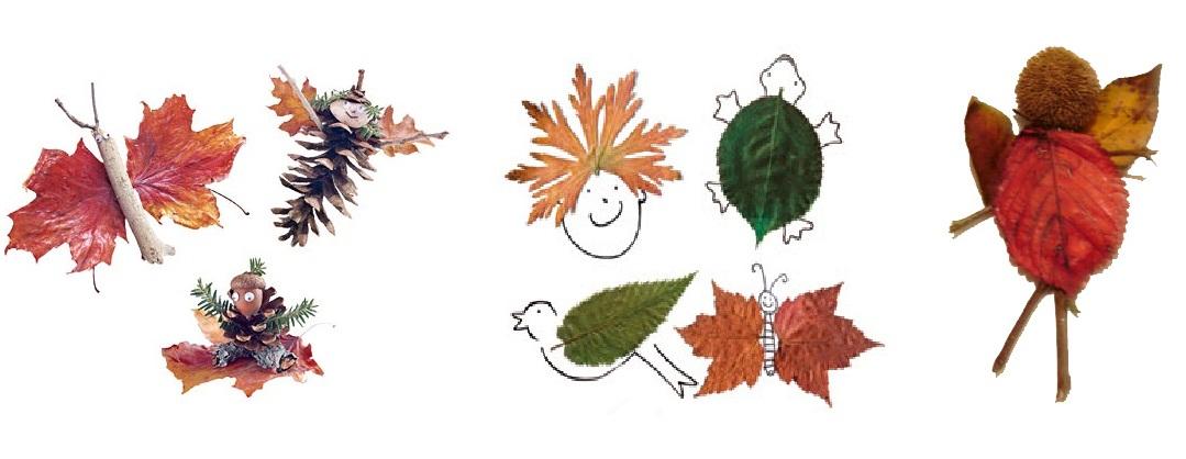Существа из осенних листьев