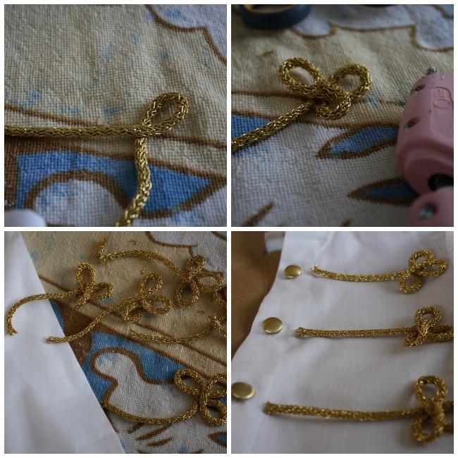 Золотые нашивки на костюм
